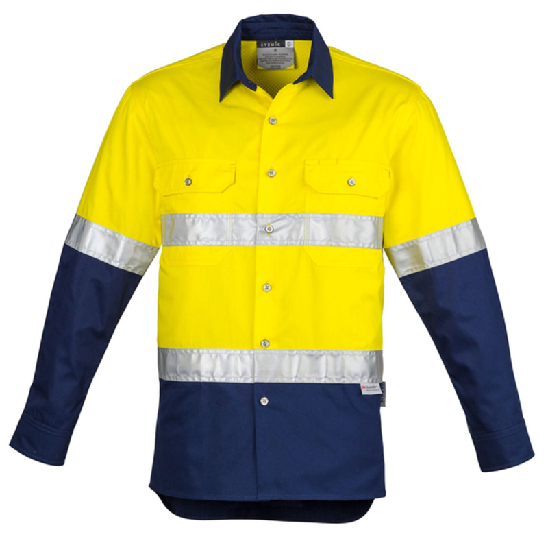 Syzmik Mens Hi Vis Industrial Shirt