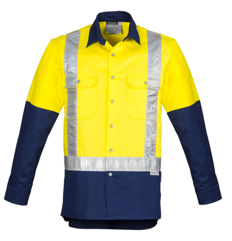 Syzmik Hi Vis Spliced Industrial Long Sleeve Shirt