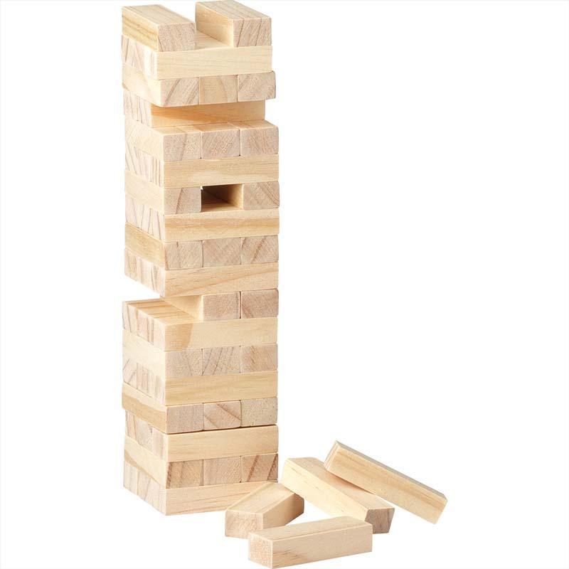 Tumbling Tower Wood Block Stacking Game