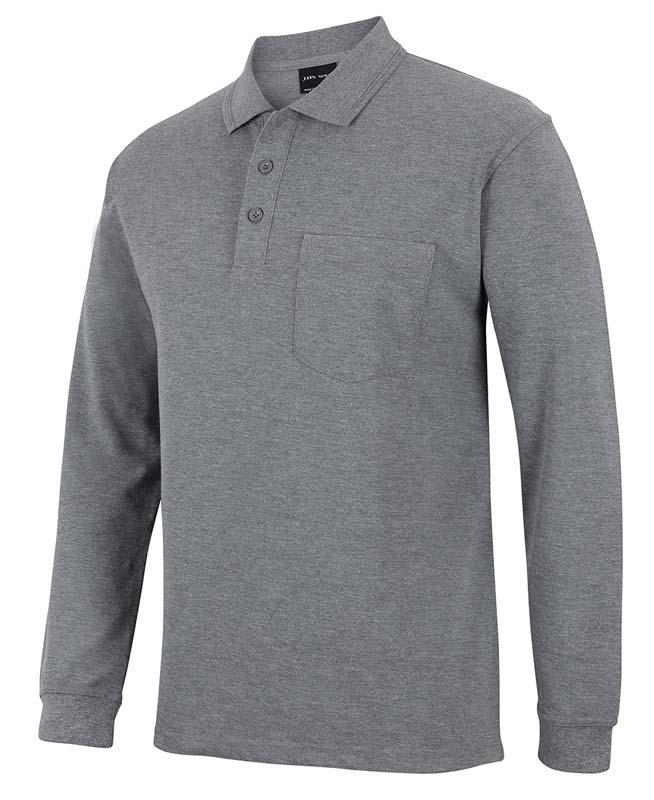 Long Sleeve Pocket Polo Shirt
