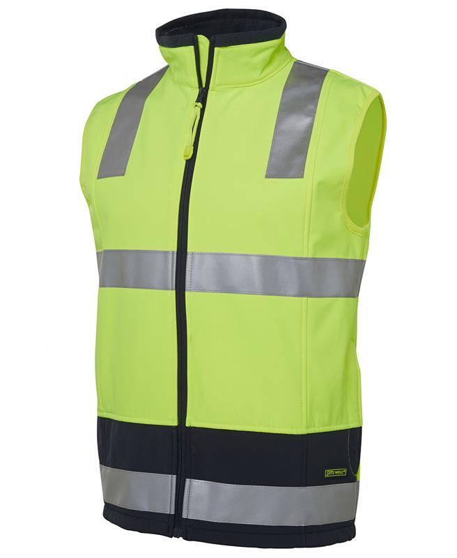 JB Hi Vis Water Resistant Layer Softshell Vest