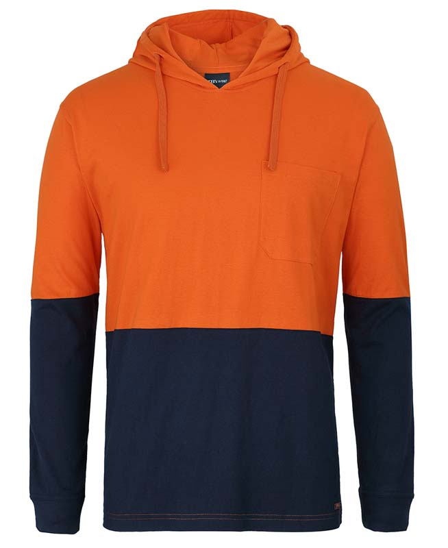 JB Hi Vis Long Sleeve T-Shirt w Hood