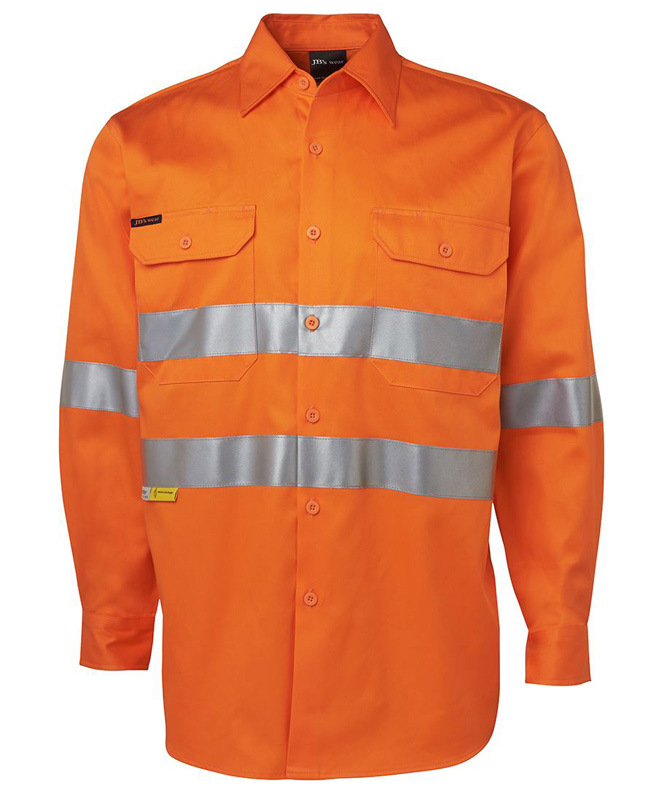 JB Hi Vis Long Sleeeve Shirt 3M 190G