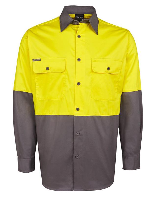 JB Hi Vis  Long & Short Sleeve Shirt 150G