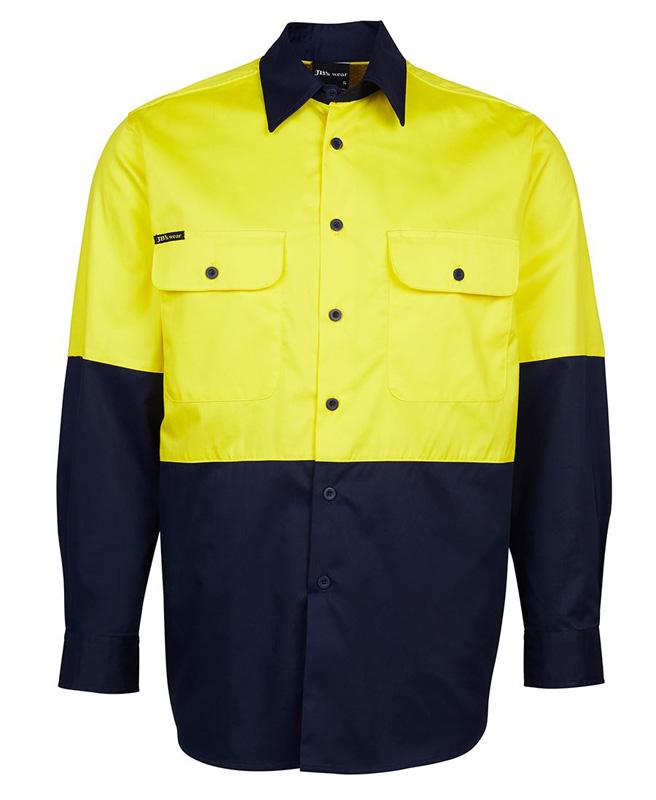 JB Hi Vis Traditional Work Shirt 150G