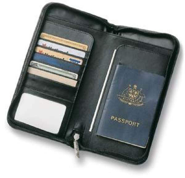 Split Leather Travel Wallet
