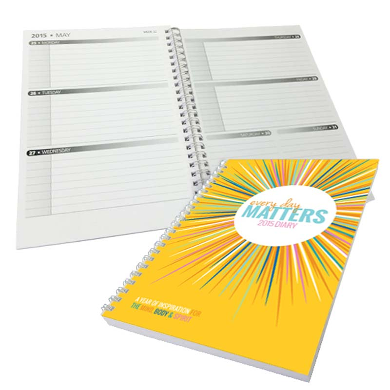 A4 Diary with Printed Cover