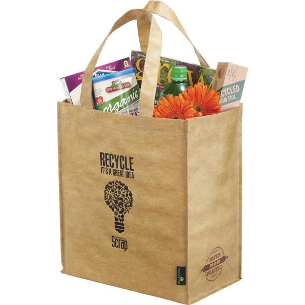 Matte Laminated Grocers Brown Bag
