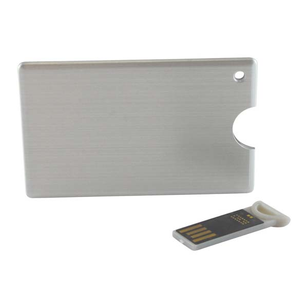 Alu Slide Credit Card Drive 2GB