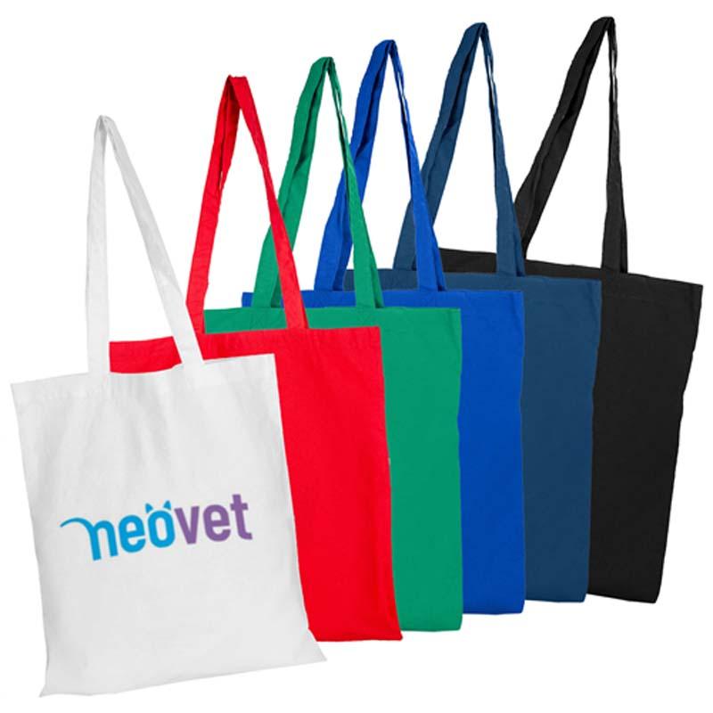Coloured Bag No Gusset Shoulder Handles