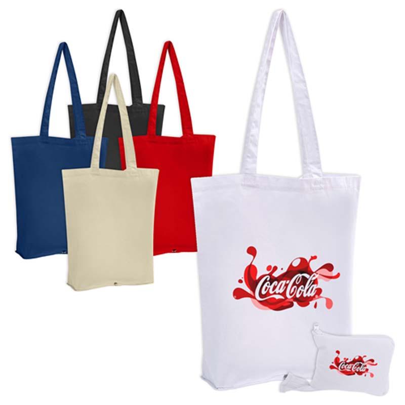 Foldable Zip Calico Bag