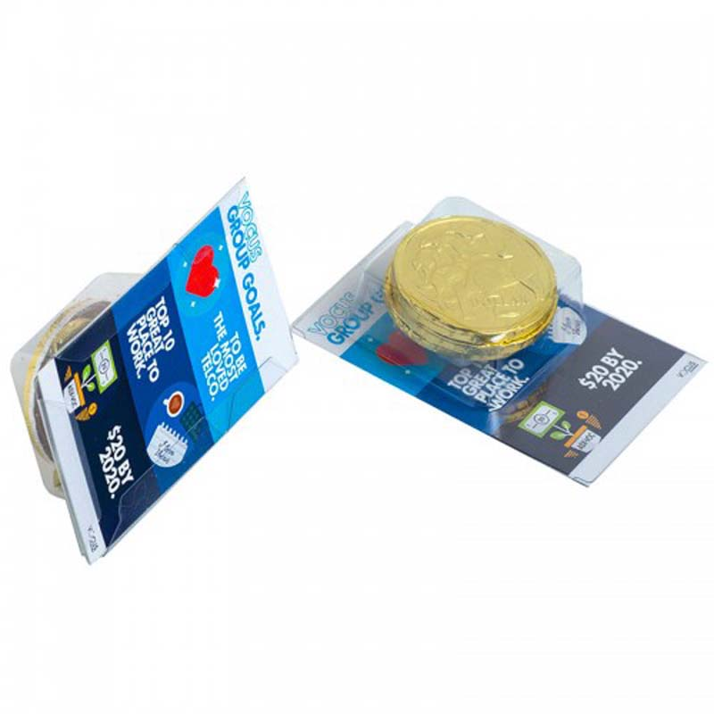 Small Biz Card Treats with Chocolate Coins