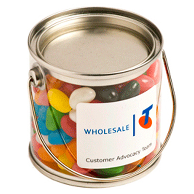 Small Bucket Filled with Jelly Beans
