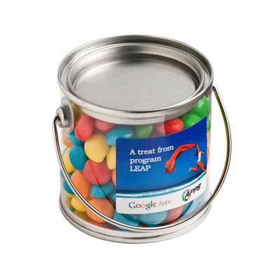 Small Bucket Filled with Chewy Fruits