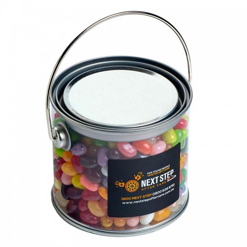 Medium PVC Bucket filled with Jelly Belly Jelly Beans