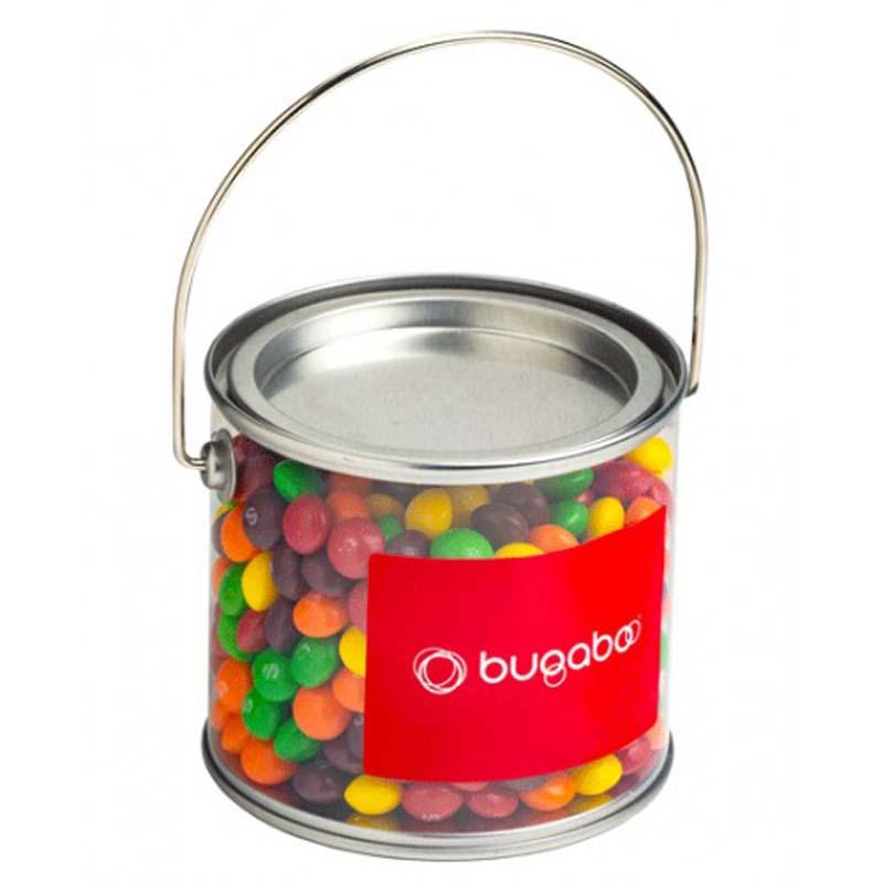 Medium PVC Bucket filled with Skittles