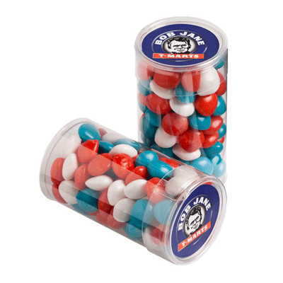 Pet Tube filled with Chewy Fruits 100g