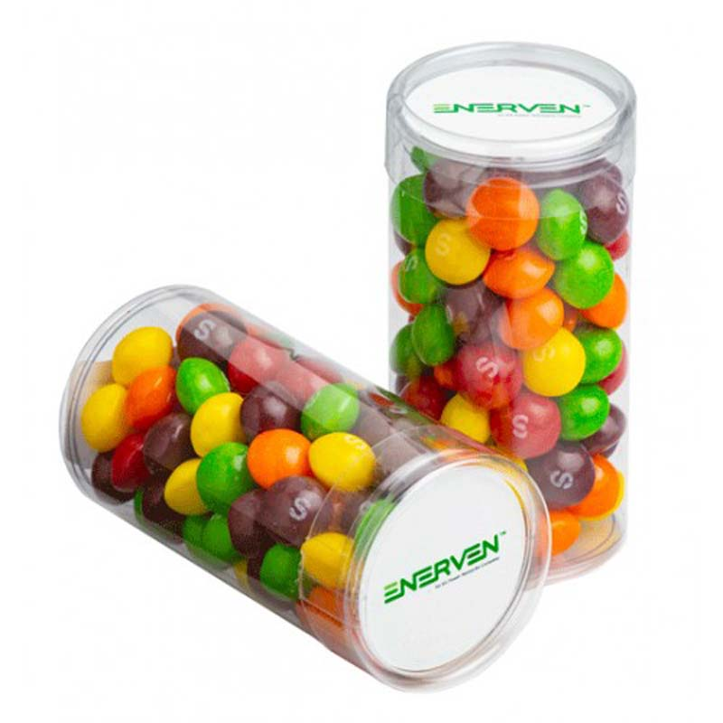 Pet Tube with Skittles 100g