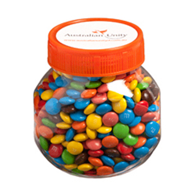 Plastic Jar Filled with M&Ms 145g