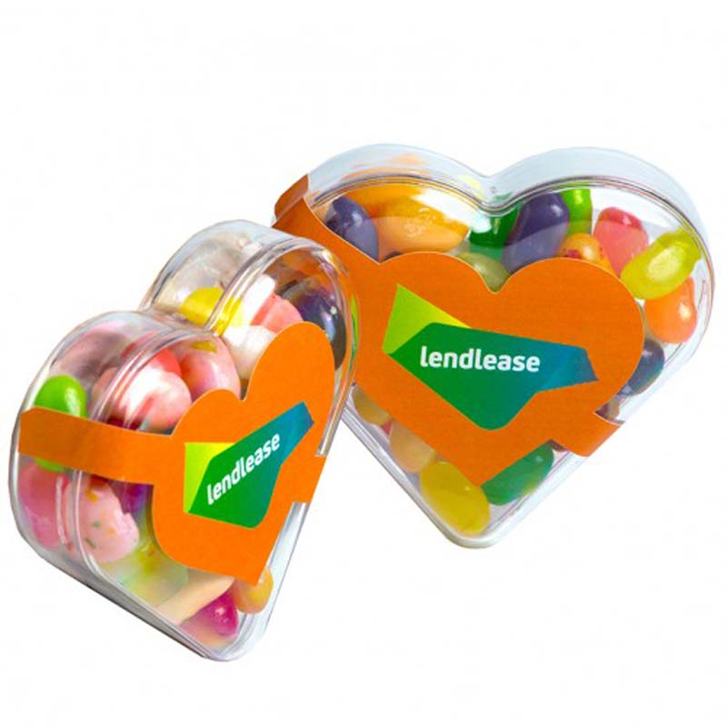 Acrylic Heart filled with Jelly Belly Jelly Beans