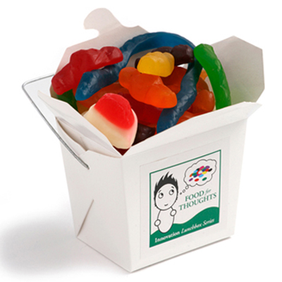 White Noodle Box with Mixed Lollies 100g