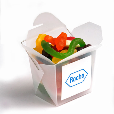 Frosted Noodle Box with Mixed Lollies 100g