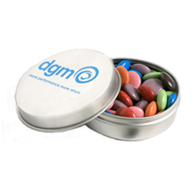 Candle Tin Filled with Choc Beans 50g