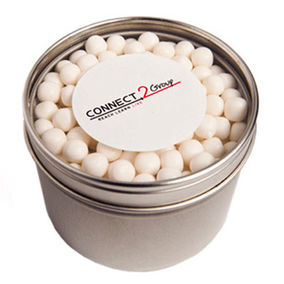 Small Round Acrylic Window Tin with Mints or Musks
