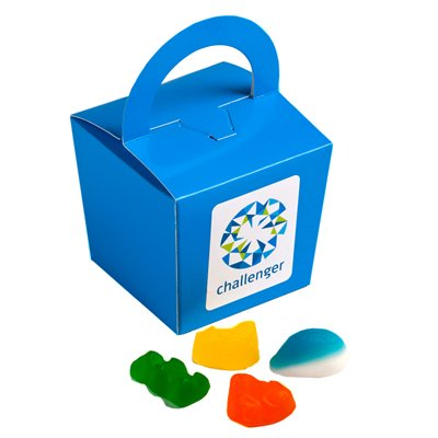 Coloured Noodle Box with Mixed Lollies 100g