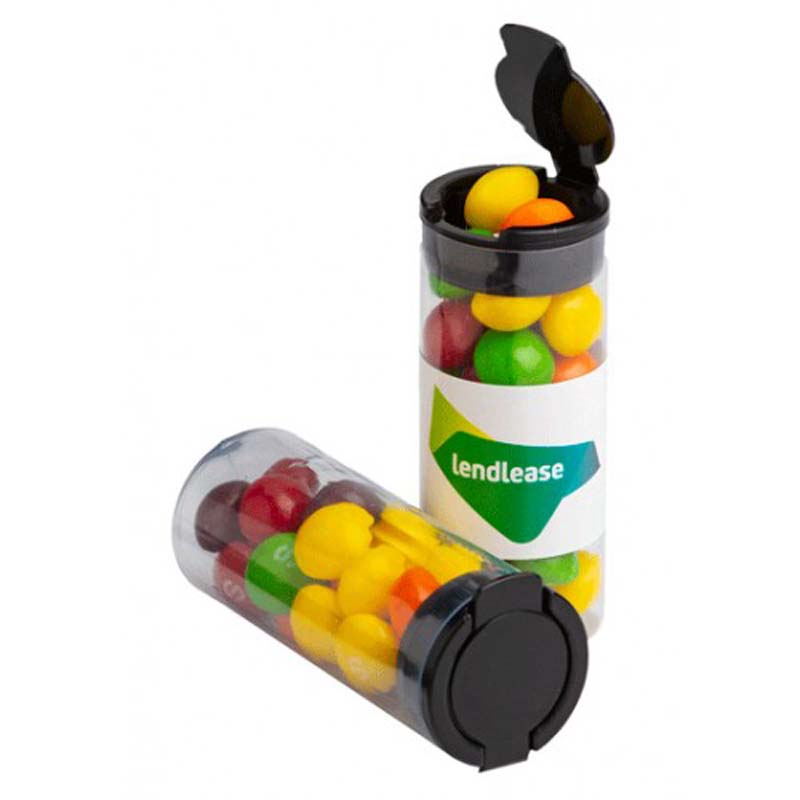 Flip Lid Tube filled with Skittles 35g