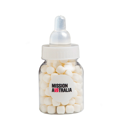 Baby Bottle Filled with Mints 50g