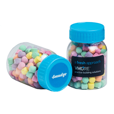 Baby Jar Filled with Rainbow Lollies 50g
