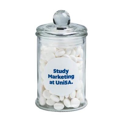 Small Apothecary Jar Filled with Mints 115g