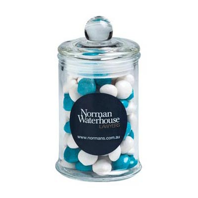 Small Apothecary Jar Filled With Chewy Fruits 115g
