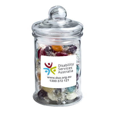 Wrapped Boiled Lollies in Big Apothecary Jar 700g