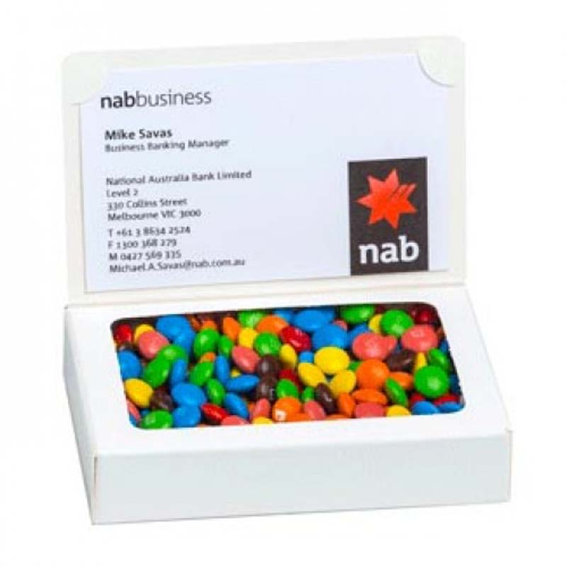 Bizcard Box with 50g M&Ms