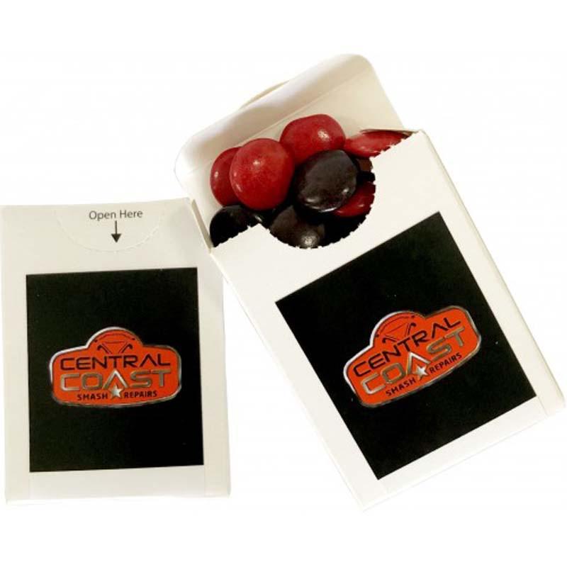 Flip Lid Cardboard Box with Choc Beans