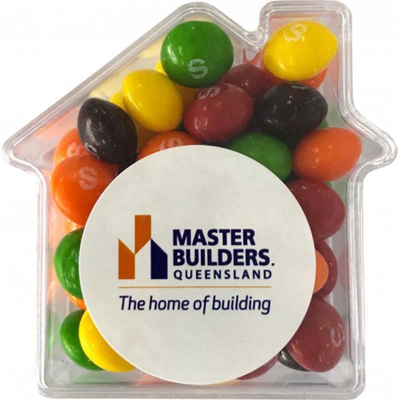 Skittles in Acrylic House