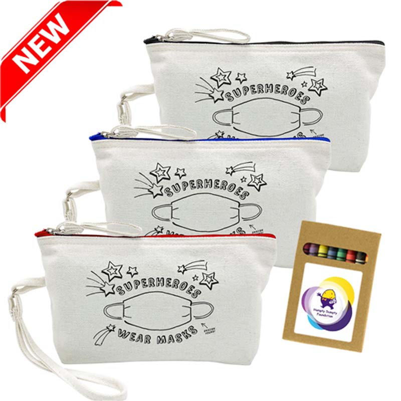 Colouring Canvas Cosmetic Bag