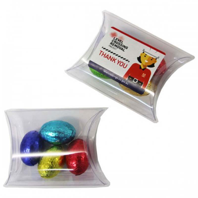 Easter Eggs placed in Pillow Pack x4