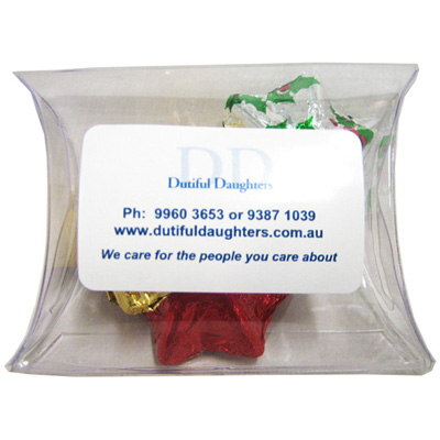 Pillow Pack Filled with Christmas Chocolates 25G