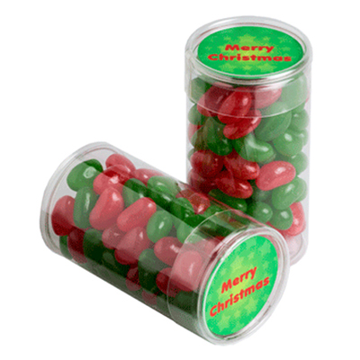 Pet Tube Filled With Christmas Jelly Beans