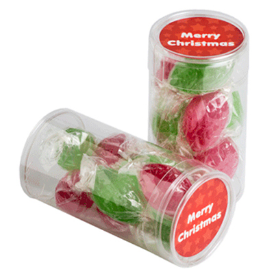 Pet Tube Filled With Christmas Boiled Lollies