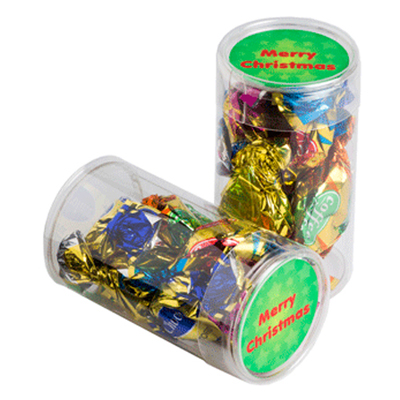 Pet Tube Filled With Christmas Mixed Eclairs
