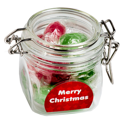 Christmas Boiled Lollies In Canister