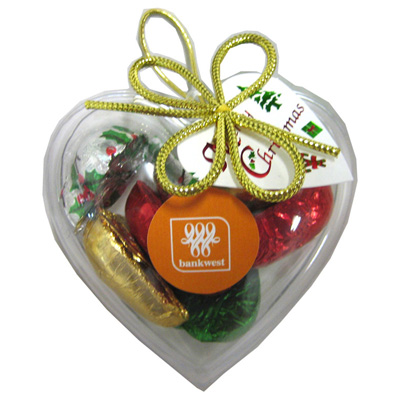 Acrylic Heart Filled with Christmas Chocolates