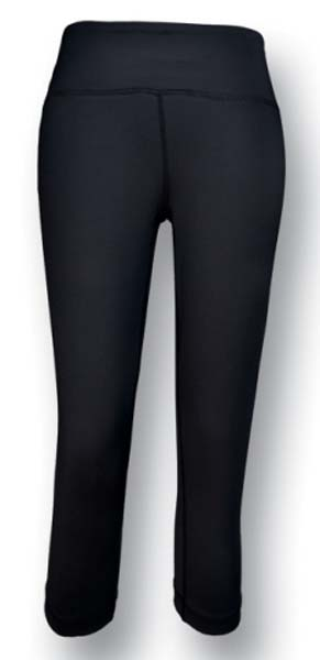 Ladies High Waisted 3/4 Length Gym Tights