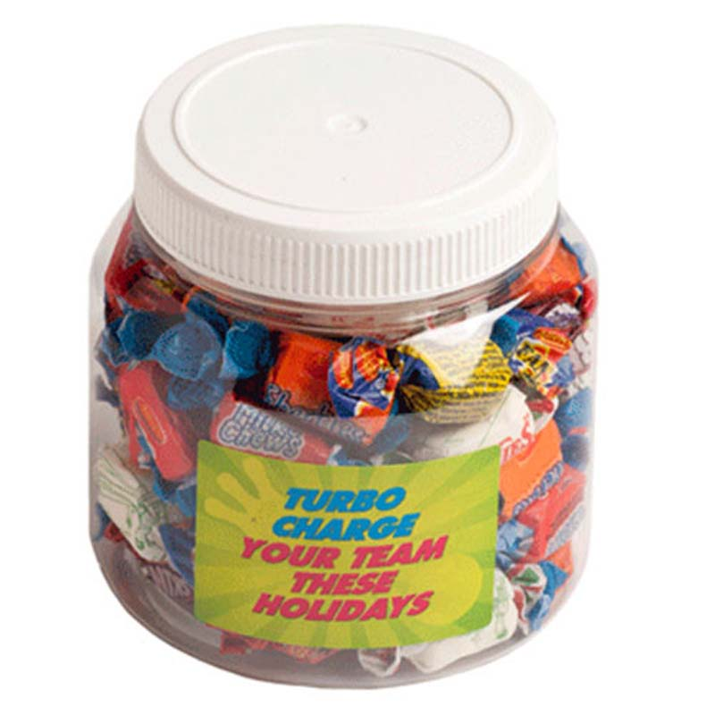 1L PET Jar filled with Allen's Lollies