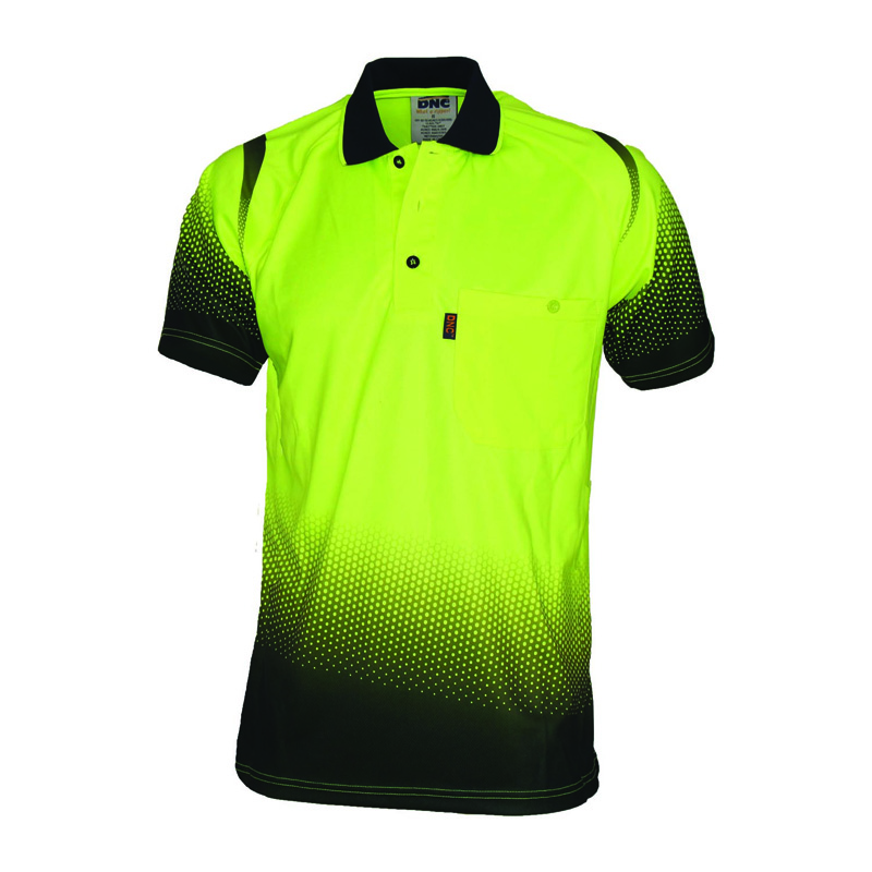 DNC Ocean Hi Vis Sublimated Polo