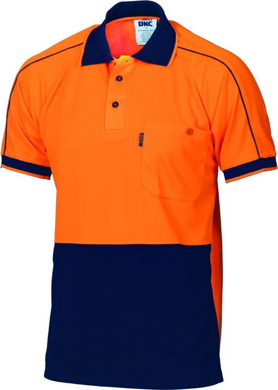 DNC Hi Vis Cool Piping Polo S/S